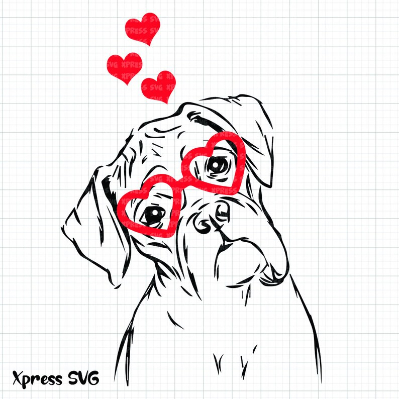 Download Boxer SVG Dog Love Valentine SVG File Valentine's Day Love ...