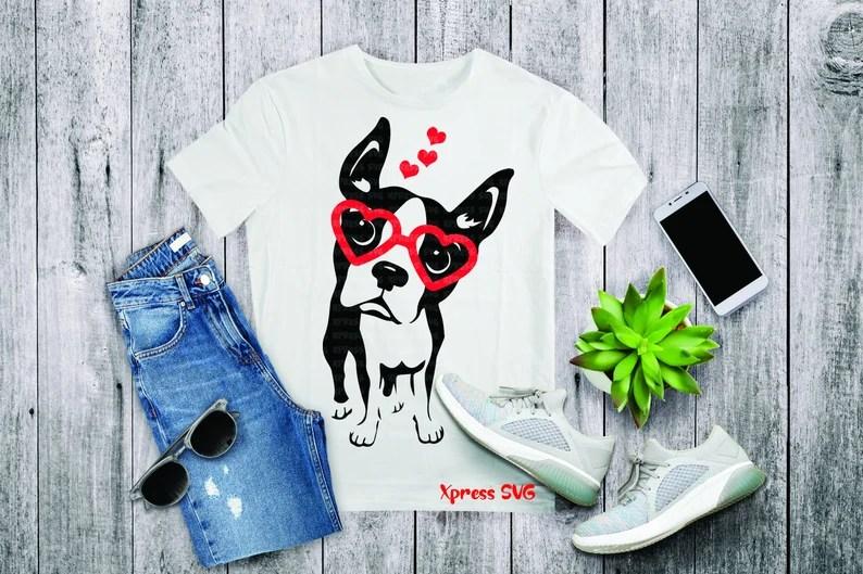 Download Boston Terrier SVG Dog Love Valentine SVG File Valentines ...