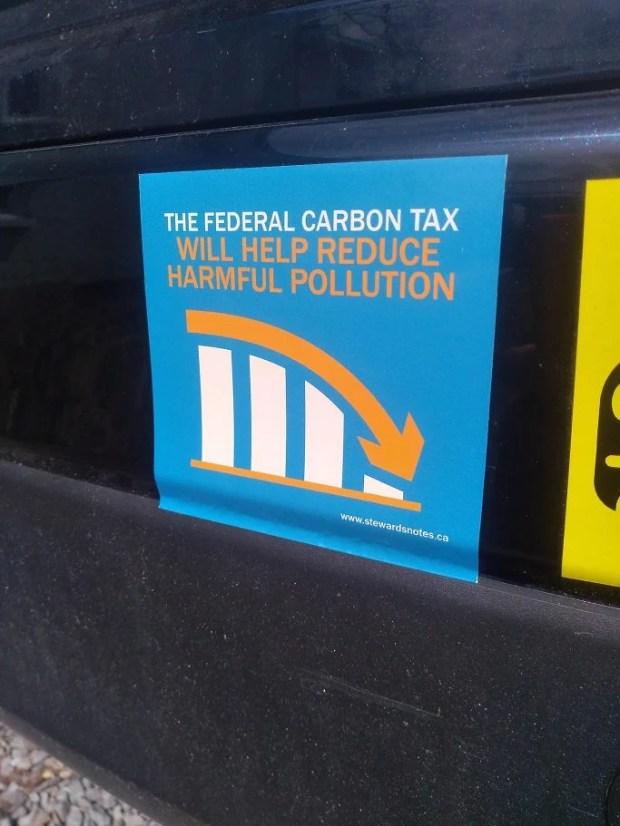 Carbon Tax Bumper Sticker x10 (Vinyl, Die Cut)