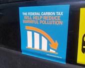 Carbon Tax Bumper Sticker x1 (Vinyl, Die Cut)