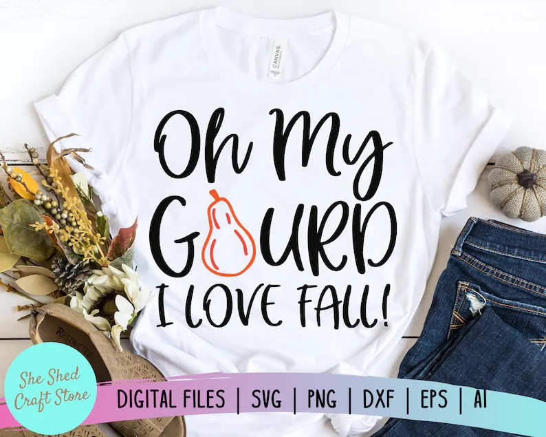Download Oh My Gourd I Love Fall SVG Files For Cricut Fall Cut ...