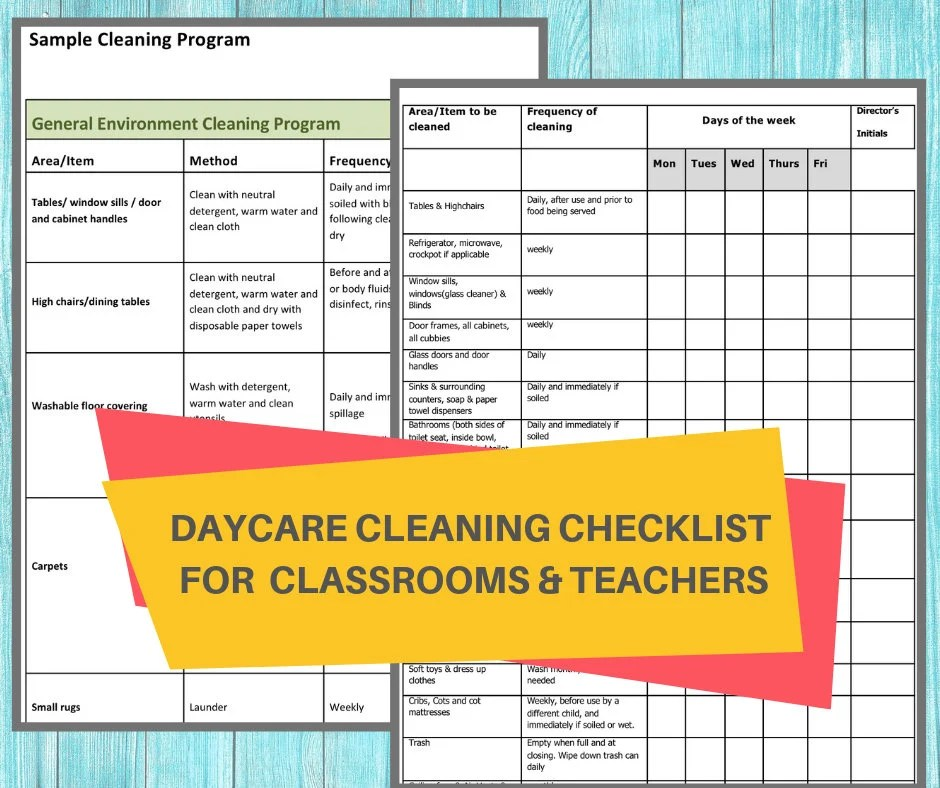 Daycare Cleaning Checklist Keep A Nice Tidy Child Care Center Ensure Your Classrooms Stay Sanitized And Germ Free