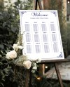 Navy Blue Wedding Seating Chart Seating Table Chart Template Etsy