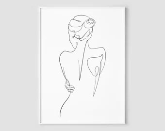 Line Drawing Etsy