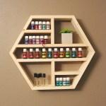 Medium Hexagon Shelf Essential Oil Shelf Floating Etsy