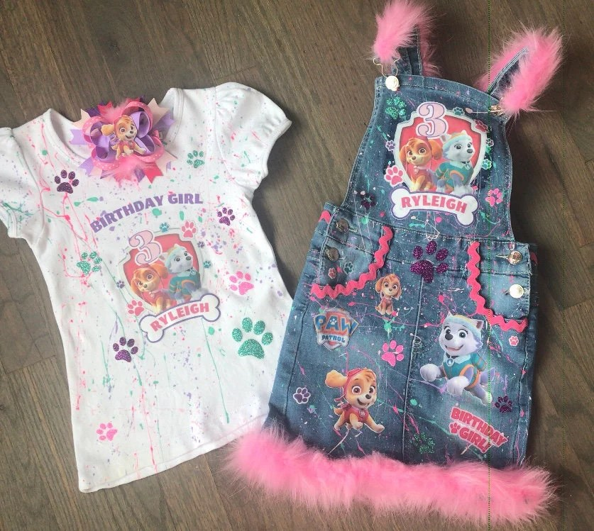 Clothing Girls Clothing Paw Patrol Birthday Outfit Skye Dress Girl Skye Personalized Outfit Paw Patrol Dress