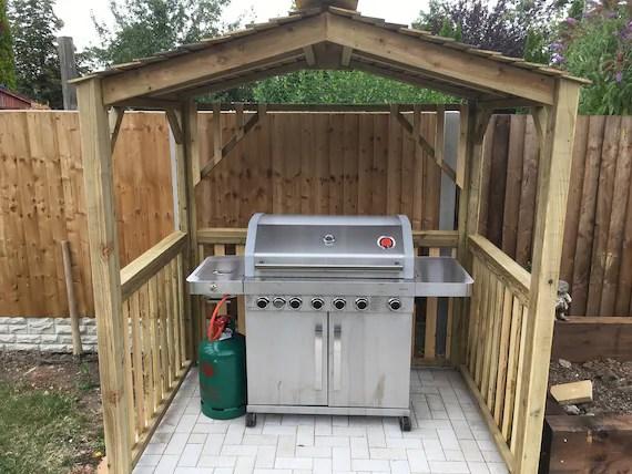 meilleur abri de barbecue gazebo canopee faite a la main tanalise extra traite