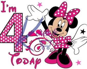 4th Birthday Minnie Etsy