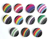Pride Flag Rainbow Pin Buttons / LGBT Pride