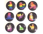 Pride Flag Bears Pin Buttons / LGBT Pride