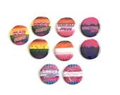 LGBT Pride Flag Retro Aesthetic Pin Buttons / Retrowave / Synthwave / 80's Aesthetic