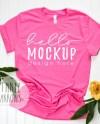 Bella Canvas 3001 Mockup Charity Pink Tshirt Flat Lay Mockup Etsy