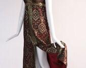 Vintage 1960s Jacquard Maxi Dress