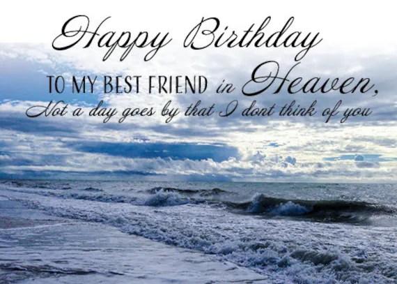 Birthday To Best Friend In Heaven Custom Unique Waterproof Etsy