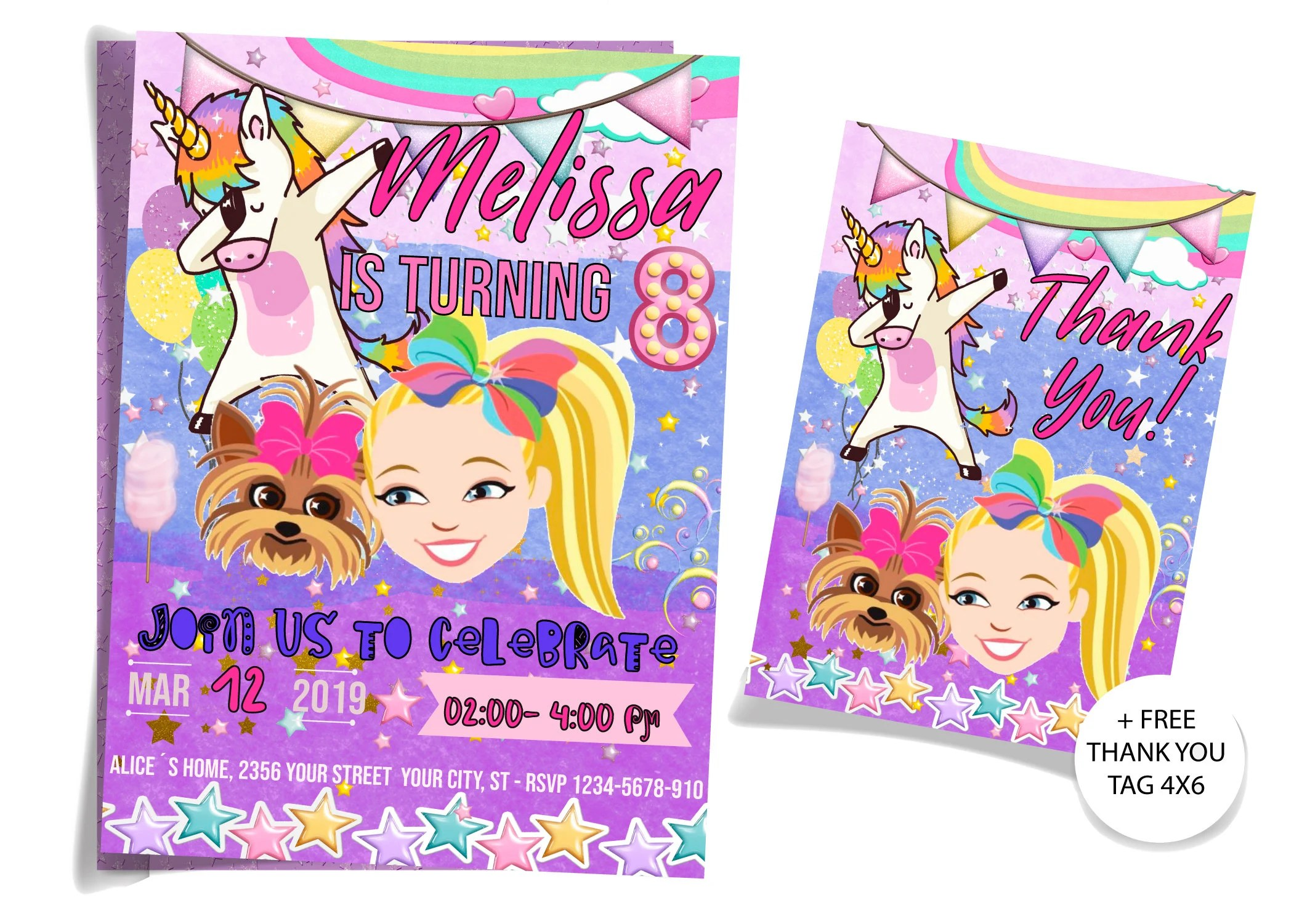 jojo siwa invitation jojo siwa invitations jojo siwa birthday invitation jojo siwa party invitation jojo siwa invitation template