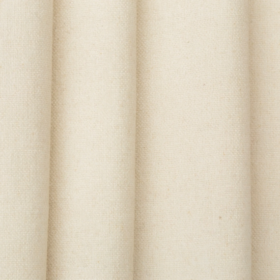 designer curtain fabric off white linen blend textured plain cushion blind material sold by the metre