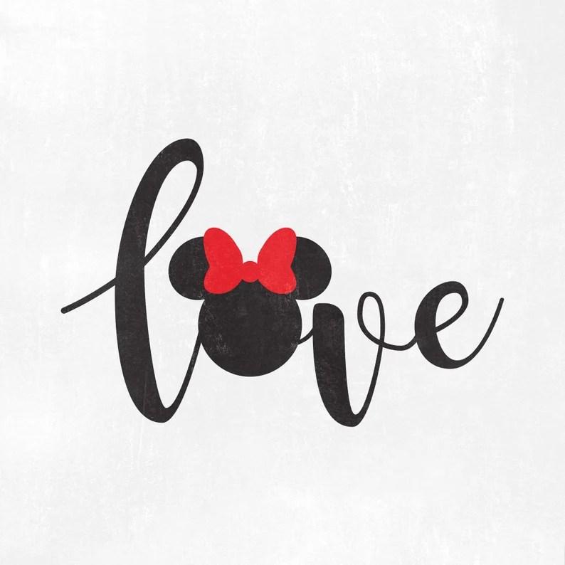 Download Minnie love svg disney love wording svg minnie love svg | Etsy