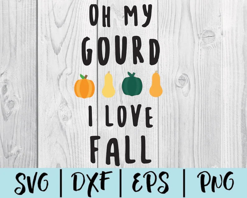 Download Oh my gourd I love fall SVG Gourd Clipart Cut File for | Etsy