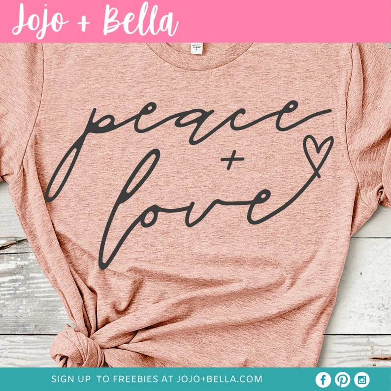 Download Peace and Love SVG love svg peace svg love svg file   Etsy