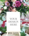 Burgundy Wedding Table Number Mockup Table Card Mockup Red Etsy