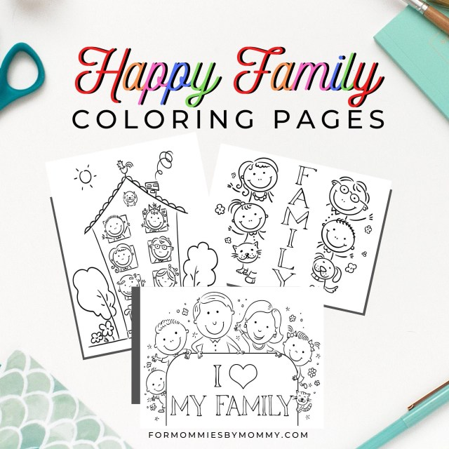 Printable Happy Family Coloring Pages For Kids