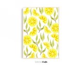Lemon Slice Watercolor Art Print For Instant Digital Download   Watercolor Poster   Minimalist Decor Printable   Print   Kitchen Wall Decor