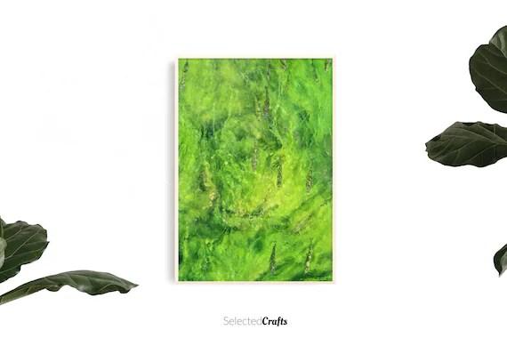 Abstract Green River Art Print   Algae Poster   Scandinavian Decor   Minimal Decor Printable   Print   Digital Download   Wall Art   Spa  