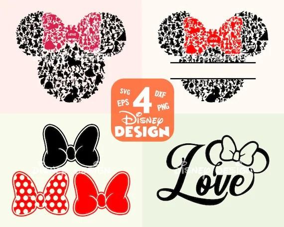 Download Minni head svg / Minnie Mouse bow svgMinnie Love SVG ...