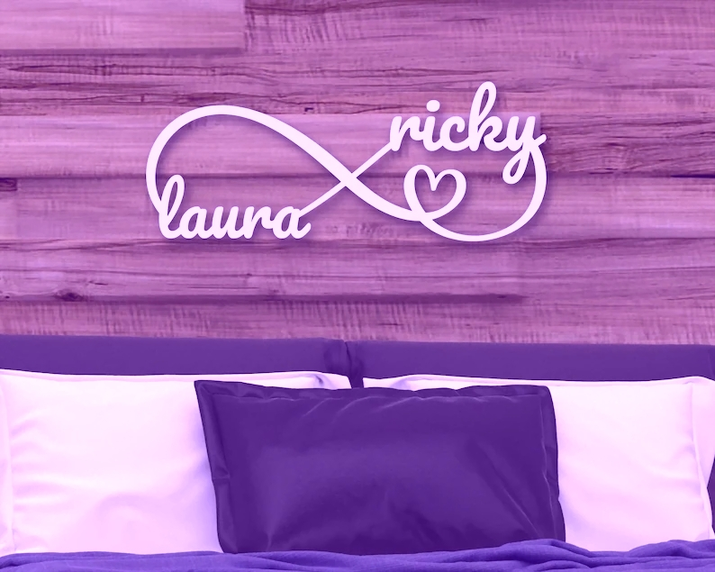 Personalized Metal Sign Infinity Sign Wall Art Name Sign ...