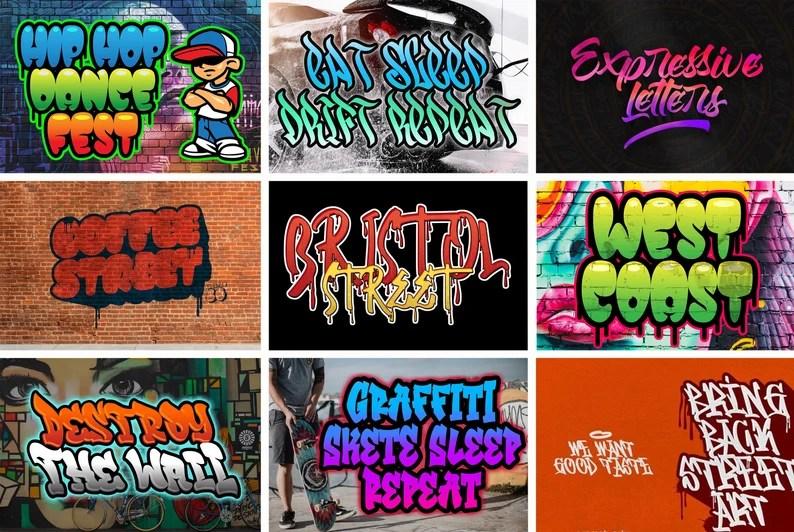 Download 152 Graffiti fonts Pack Instant Digital Download   Etsy