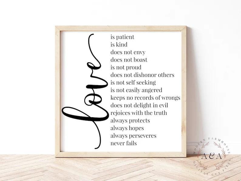 Download Love Is Patient Love Is Kind Svg 1 Corinthians 13:4-8   Etsy