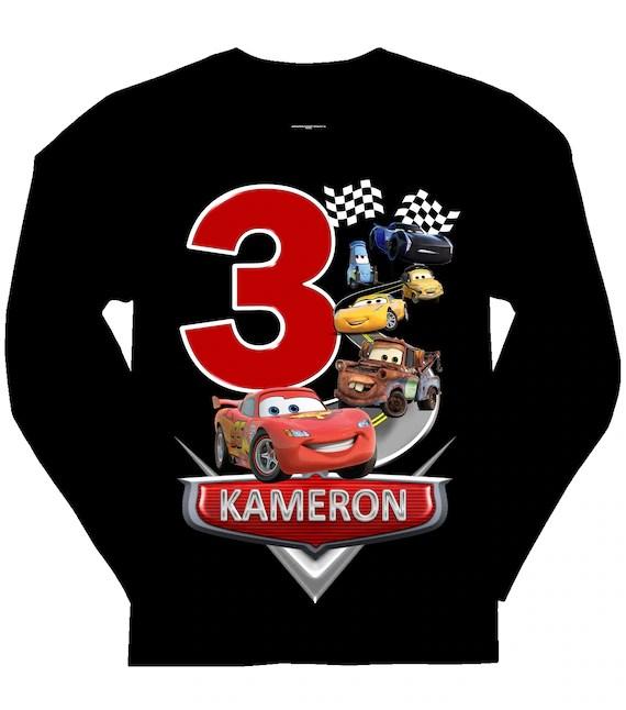 Disney Cars Birthday Shirt Cars Name Shirt
