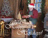 Santa's Workshop Toymaking - Happy Holiday's (Canvas)