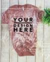 Bleach Mauve Bella Canvas 3001 Mockup Flat Lay Unisex T Shirt Etsy