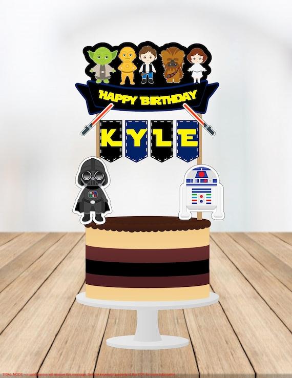 Star Wars Cake Topper Star Wars Banner Star Wars Birthday Etsy