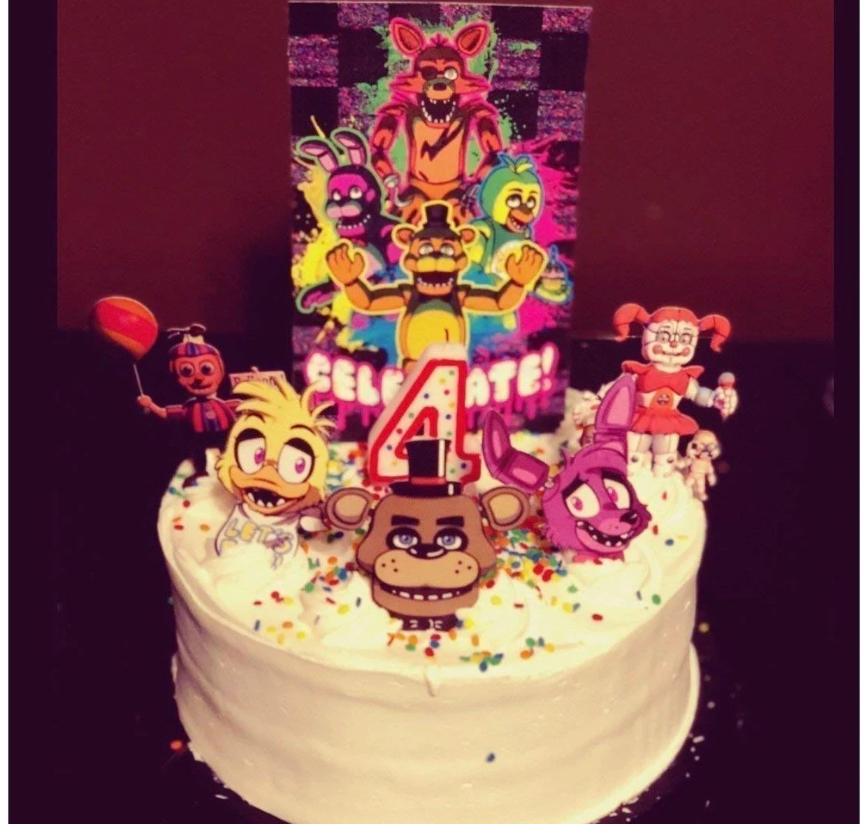 Five Nights At Freddy S Cake Topper Etsy