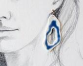 Porcelain earrings, handmade, present for her