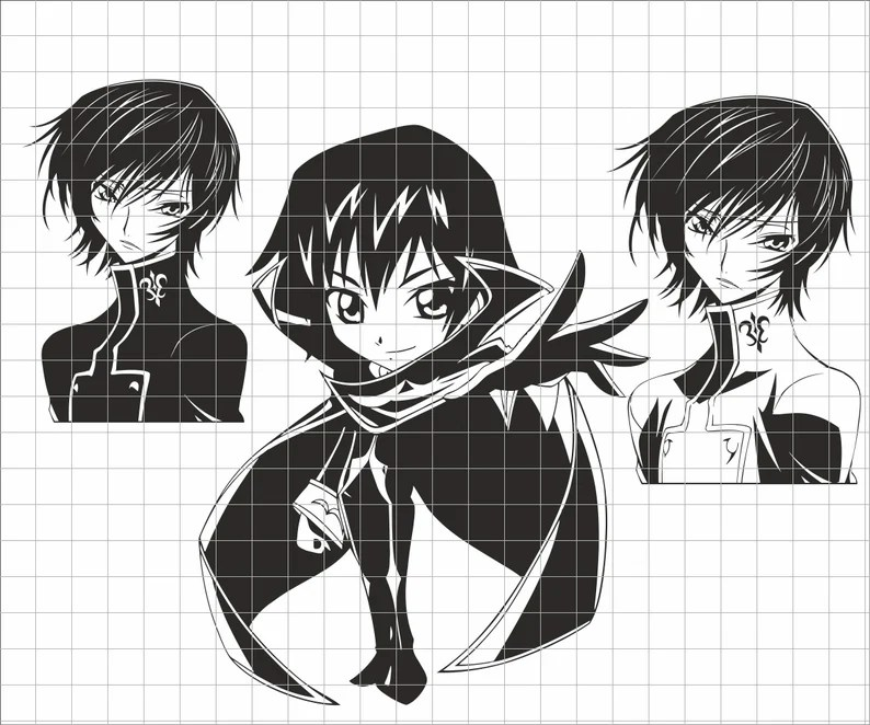 Download Anime SVG Cricut file layered vector design image art | Etsy