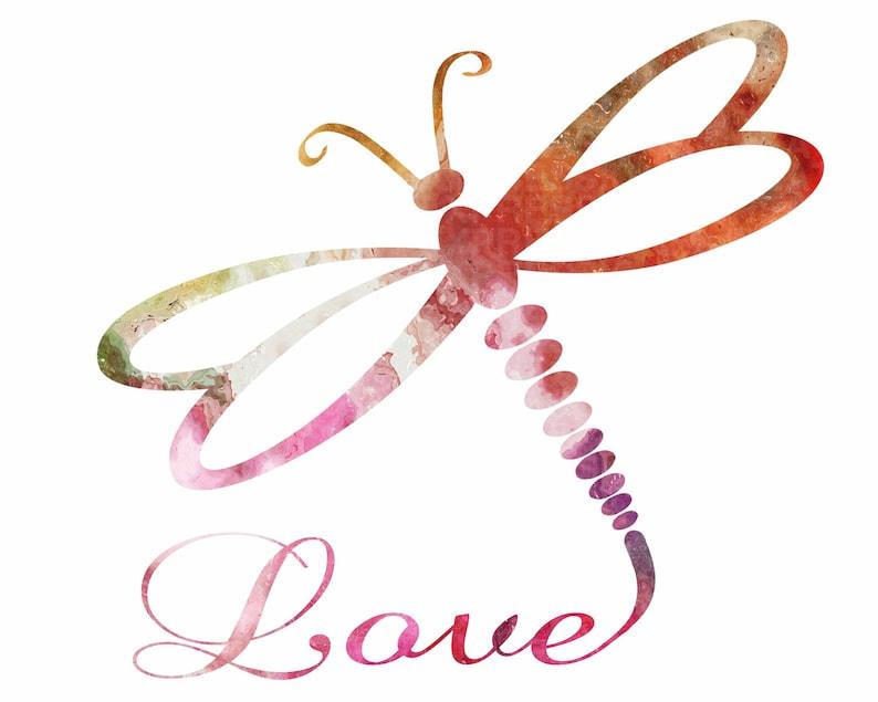Download Libélula svg Dragonfly Love svg Dragonfly Love clipart | Etsy