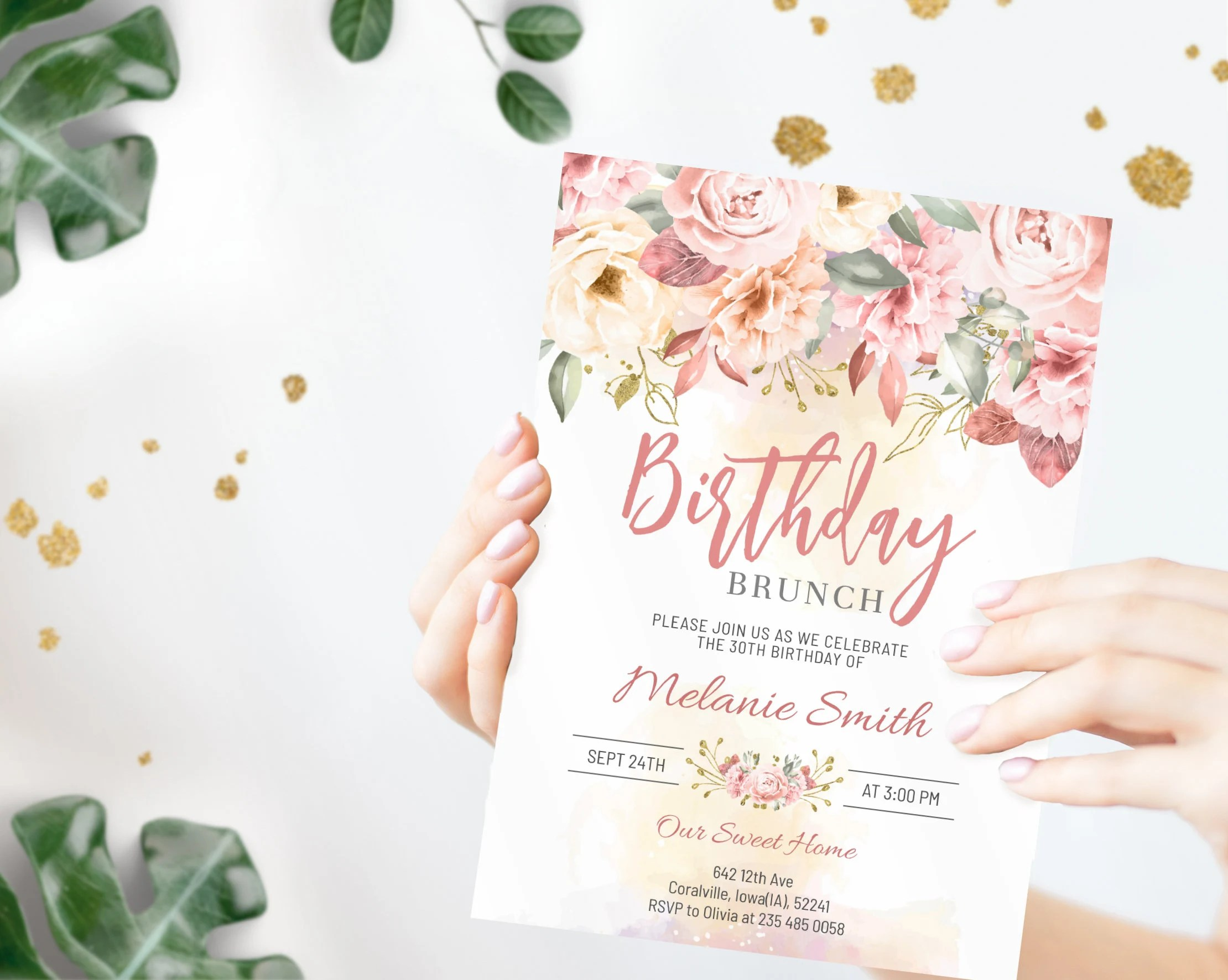 birthday brunch invitation etsy