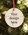 Square Glass Christmas Ornament Mockup Template Add Your Own Etsy
