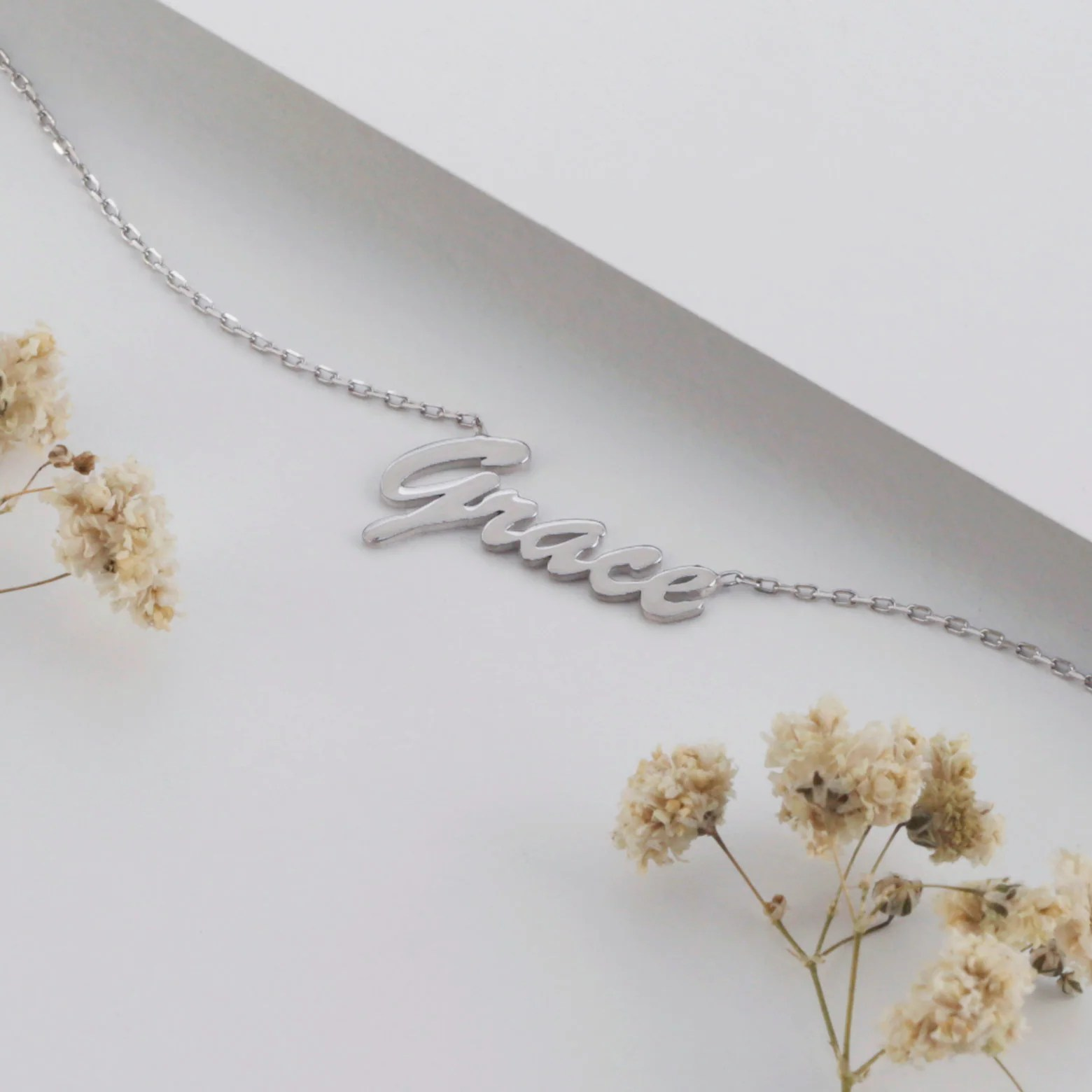 Sterling Silver Name Necklace Name Necklace Gold image 2