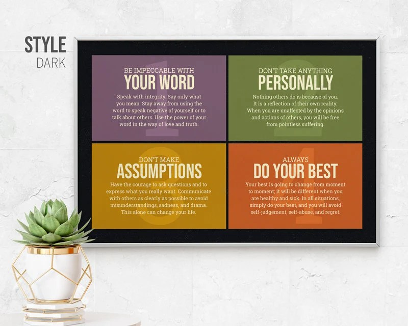 the four agreements etsy
