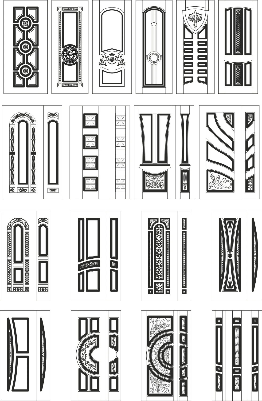 91 Doors Dxf File Best Designs For Cnc Router Dxf File