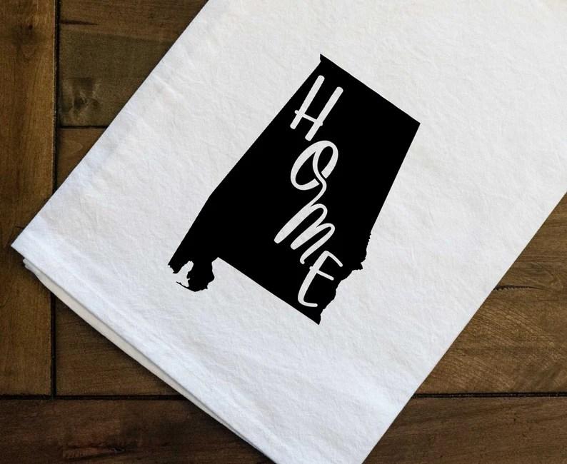Home State Alabama Tea Towel 27x27 image 0