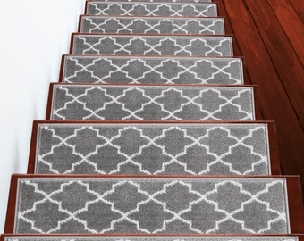 Stair Treads Etsy   Cap And Band Carpet Stairs   Fun   Stair Landing   Upholstered   Office   Waterfall