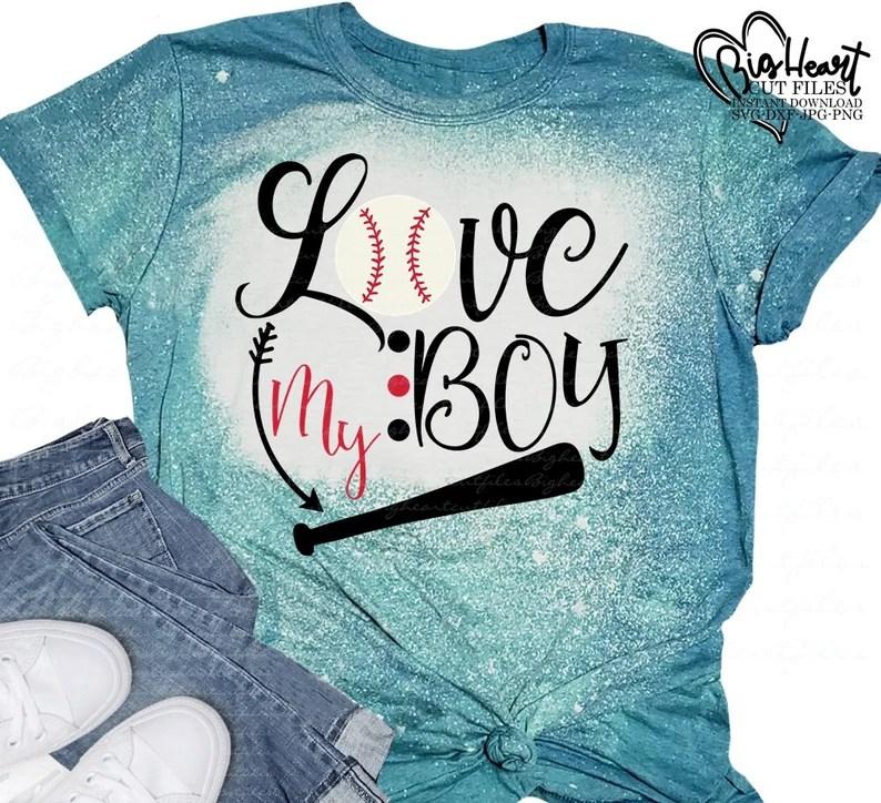 Download Love My Boy Svg Png Jpg Dxf Baseball Mom Svg Design | Etsy