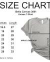Bella Canvas 3001 Size Chart Mockup Tshirt Unisex Size Chart Etsy