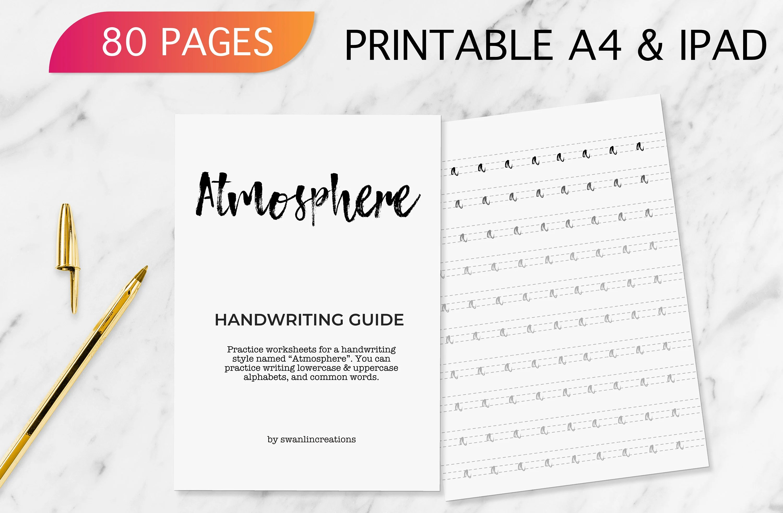 Atmosphere Digital Handwriting Worksheet Neat Handwriting