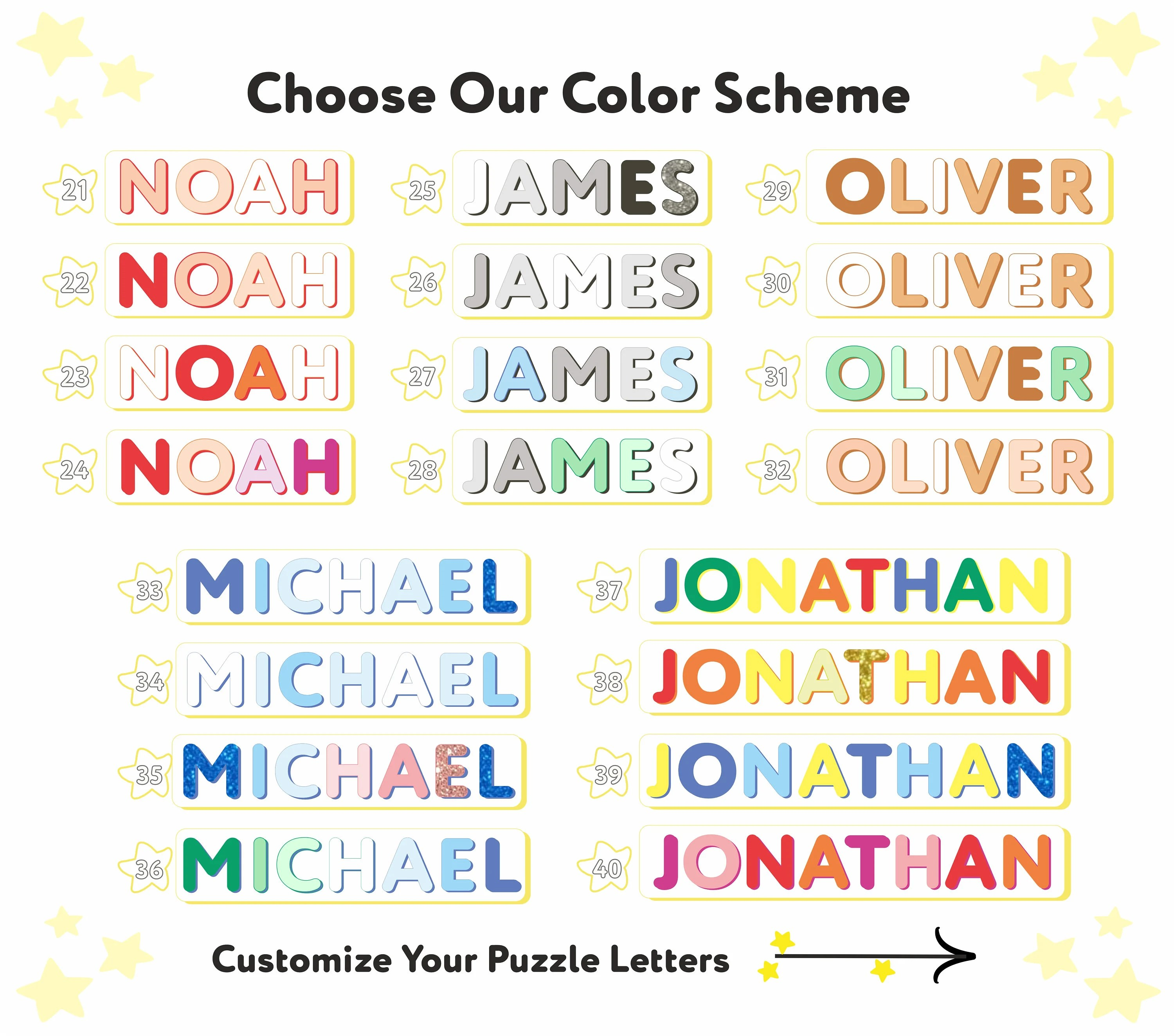 JACOB  Personalized Name Puzzle With Pegs  Montessori Toys image 4